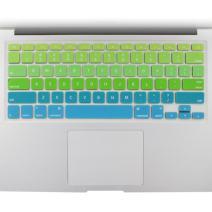 "Allinside Green Blue Ombre Keyboard Cover Skin for MacBook Pro 13"" 15"" 17"" (2015 or Older Version), MacBook Air 13"" A1369/A1466, Older iMac Wireless Keyboard MC184LL/B"