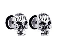 Xusamss Punk Body Piercing Earrings Stainless Steel Skull Screws Stud Earrings