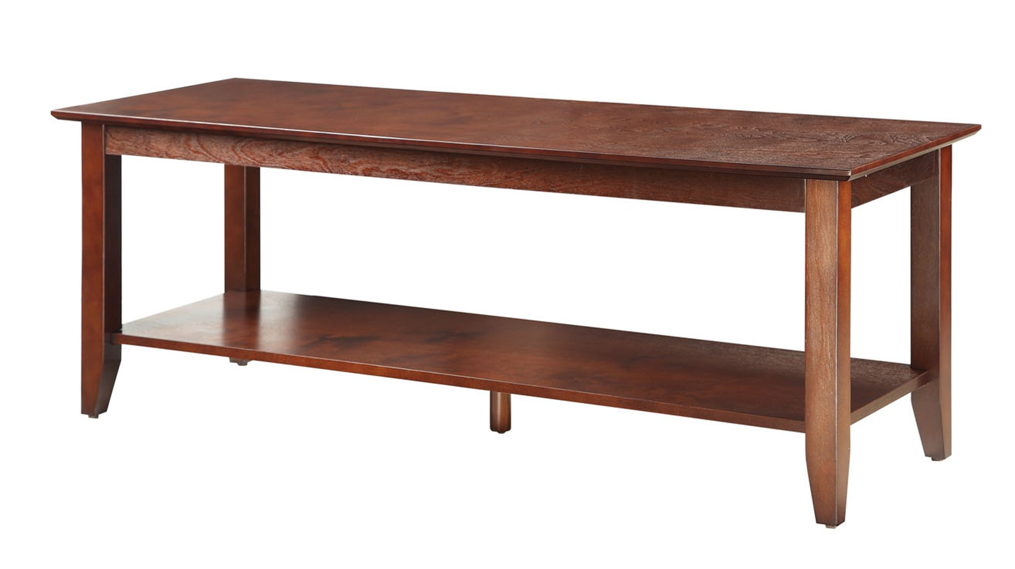 Convenience Concepts American Heritage Coffee Table with Shelf, Espresso