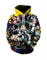 Unisex My Hero Academia Boku No Hero Academia Hoodie Cosplay Costume 3D Printed Pullover Sweatshirt