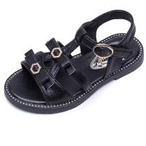 MUYGUAY Girls Glittery Sandals with Adjustable Strap Summer Dressy Shoes for Baby/Toddler/Little Girls