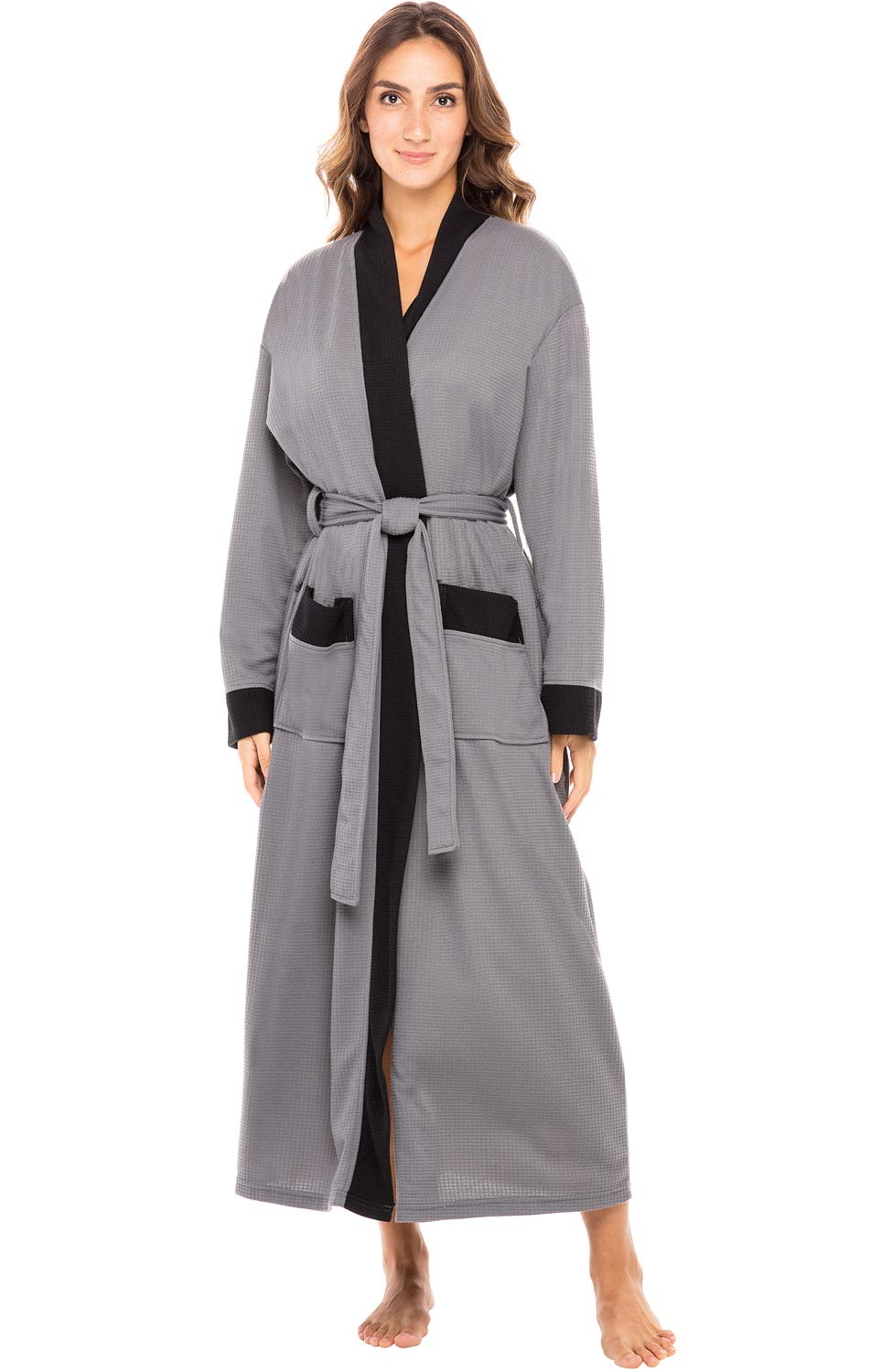 Alexander Del Rossa Women's Warm Fleece Robe, Long Plush Bathrobe