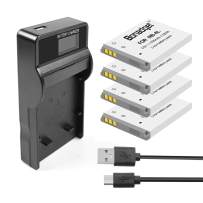 Bonadget 4 Pack 1200mAh NB-4L Replacement Battery and LCD Charger Compatible with Canon CB-2LV PowerShot SD40 SD30 SD200 SD300 SD400 SD430 SD450 SD600 SD630 SD750 SD780 is