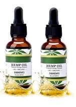 Hemp Oil Natural Hemp Flavour, (2 pack) 100 percent Organic bottle, All Natural, Mood & Stress, sleep better - Pure Hemp Extract