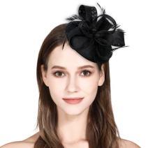 HOLDOOR Fascinator Feather Fascinators for Women Pillbox Hat Fascinator Headband for Wedding Tea Party Kentucky Derby Hats Royal Banquet Hat