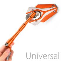 KiWAV Magazi Viper orange motorcycle Mirrors CNC aluminum universal