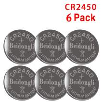 CR2450 Battery 3V Lithium (6PACK)【5-Year Warranty】