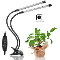 Plant Light, Jasius [2019 Upgraded Version]20W Dual Head Timing 36 LED 5 Dimmable Levels Plant Grow Lights for Indoor Plants with Red/Blue Spectrum, Adjustable Gooseneck, 3/6/12H Timer, 3 Switch Modes