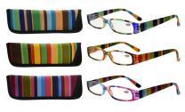 Eyekepper 3 Pack Ladies Reading Glasses for Women Smaller Readers +0.50