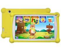 Kids Tablet, Enhance/Train Kid's Abilities and Develop Talents,120+ English Educational Preloaded Apps, 7 Inch HD Display, 1+8G Android 6.0 Tablet-Yellow