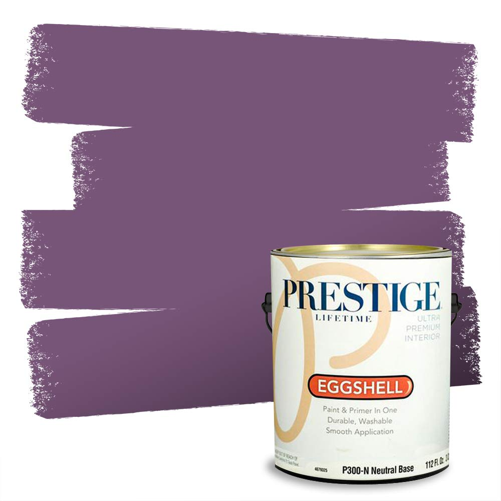 Prestige, Blues and Purples 1 of 8, Interior Paint and Primer In One, 1-Gallon, Eggshell, Bayberry