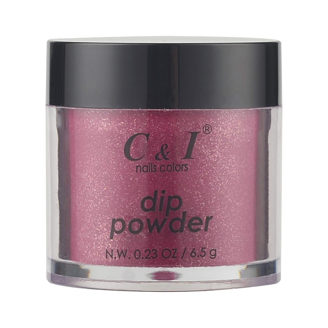 C & I Dipping Powder, Nail Colors, Gel Effect, Color # 65 Ruby, 0.23 oz, 6.5 g, Pearl Shine Color System (1 pc)