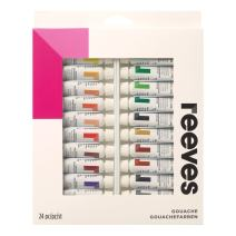 Reeves Gouache Paint 10ml Tubes, Set of 24,