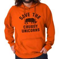 Save The Chubby Unicorns Rhino Funny Geeky Nerd Hoodie