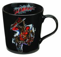 Vandor 26366 Marvel Deadpool 12 oz Ceramic Mug, Black, Red, and White
