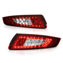 VIPMOTOZ For 2005-2008 Porsche 997.1 Series 911 Carrera Targa Red Lens Premium LED Tail Light Housing Lamp Assembly Replacement, Driver and Passenger Side