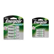 Energizer Rechargeable AA Batteries, NiMH, 2300 mAh, Pre-Charged, 8 count (Recharge Power Plus) & Rechargeable AAA Batteries, NiMH, 800 mAh, Pre-Charged, 4 count (Recharge Power Plus) - EVENH12BP4