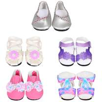 ebuddy 5pair Doll Shoes Random Diffrent Style for 18 inch Doll