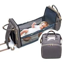 3 in 1 Travel Bassinet Foldable Baby Bed Portable Diaper Changing Station Mummy Bag Backpack