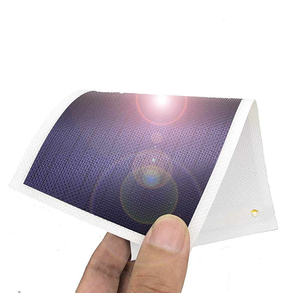 JIANG Thin Film Solar Panel Small Flexible Solar Panel Power Cells Emergency Solar Battery Charger 1W/1.5V/670MA Flexible Small Solar Chargers for Electronic Devices (White)