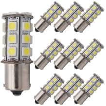 GRV Ba15s 1156 1141 High Bright RV Car LED Bulb 24-5050SMD DC 12V Cool White Pack of 10