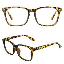 Slocyclub Oversized Nerd Square Non Prescription Glasses Clear Lens Computer Eyeglasses for Women Men Teens