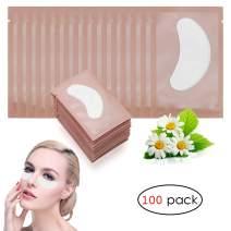 Adecco LLC 100 Pairs Under Eye Pads Lint Free Lash Extension Eye Gel Patches for DIY False Eyelash Extension Makeup,Eye Mask Beauty Tool