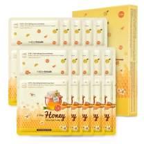 MOTHER MADE 2 Step Honey Citrus Spa Facials Kit Face Masks Pack of 10, with Amazon Bentonite Clay Mask & Manuka Honey Hydrating Sheet Masks, Deep Moisturizing, Hydrating, Acne Treatment, Natural