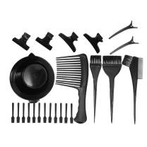 Anself 23Pcs Hair Dye Coloring DIY Salon Tool Kit Hair Tinting Bowl Dye Brush Comb Hair Clips Mixing Spatulas Hair Color Dye Tint Tool Set
