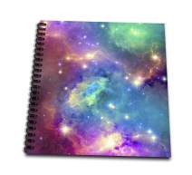 """3dRose db_112155_1 Colorful Galaxy-Drawing Book, 8 by 8"""""""