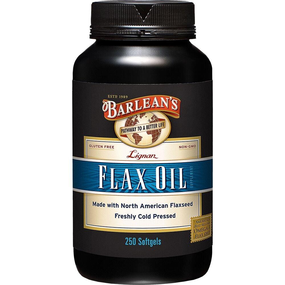 Barlean's Organic Oils Lignan Flax Oil, 1000 mg ea, 250 Count