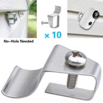 Vinyl Siding Clips for Wireless Security Cameras, No Hole Needed Outdoor Surveillance System Hanger Hooks for Mounting WiFi Home Security Cam (10 Pack)