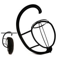 2 Pack Multifunctional Wig Hanger, Portable Wig Stand Holder for Wigs and Hats, Collapsible Wig Dryer Tool (Black) by Bella Hair