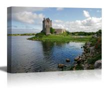 "wall26 - Canvas Prints Wall Art - View of The Dunguaire Castle, Kinvara Bay, Galway, Ireland | Modern Wall Decor/Home Decoration Stretched Gallery Canvas Wrap Giclee Print. Ready to Hang - 32"" x 48"""
