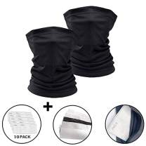 X-CHENG Scarf Bandanas Mask - Multi-Purpose Bandana Mask Neck Gaiter with Safety Carbon Filters for Men Women Sports&Outdoors
