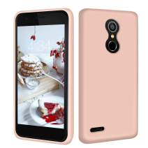Abitku K30 Case Silicone, K10 2018 Phone Slim Case Liquid Silicone Gel Rubber Shockproof Soft Microfiber Cloth Lining Cushion Compatible with LG K10 2018 (Pink Sand)