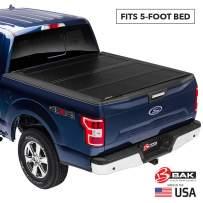 BAK BAKFlip FiberMax Hard Folding Truck Bed Tonneau Cover | 1126426 | Fits 2016-20 Toyota Tacoma, w/OE track system 5' Bed