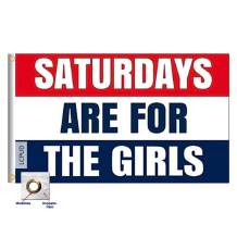 LCPUD Saturdays are for The Girls Flag 3x5 Ft,Printed Polyester Fade Resistant Dorm Room Decor Banner Double Stitched Female Fraternity Flags