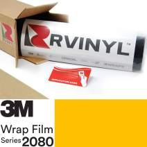 3M 2080 G15 Gloss Bright Yellow 5ft x 3ft W/Application Card Vinyl Vehicle Car Wrap Film Sheet Roll