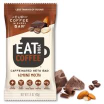 KETO Caffeinated Energy Bar, 2g Net Carbs, Contains 80mg Natural Caffeine = 8oz Cup of Coffee, Almond Mocha Flavor 6 Count by Eat Your Coffee | Coffee Flavor, Keto Snack, Paleo Snack, Low Sugar Snack