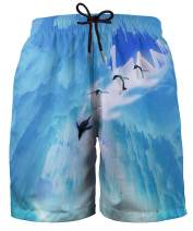 Hgvoetty Mens Funny Swim Trunks 3D Graphic Print Quick Dry Surf Beach Board Shorts with Mesh Lining