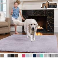 GORILLA GRIP Original Faux-Chinchilla Area Rug, 2x4 Feet, Super Soft and Cozy High Pile Washable Carpet, Modern Rugs for Floor, Luxury Shag Carpets for Home, Nursery, Bed and Living Room, Soft Purple