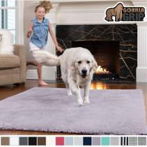 GORILLA GRIP Original Faux-Chinchilla Area Rug, 7.5x10 Feet, Super Soft and Cozy High Pile Washable Carpet, Modern Floor Rugs, Luxury Shag Carpets for Home, Nursery, Bed and Living Room, Soft Purple