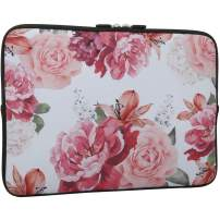 Rose Design Laptop Sleeve Bag 15-15.6 Inch, Water Repellent Neoprene Light Weight Computer Skin Bag, Notebook Carrying Case Cover Bags for 15/15.4/16 Inch MacBook Pro, MacBook Air, Notebook Computer