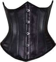 Orchard Corset CS-345 Women's Leather Underbust Steel Boned Waist Training Corset