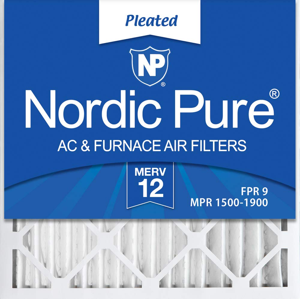 Nordic Pure 18x18x2 MERV 12 Pleated AC Furnace Air Filters, 3 Pack