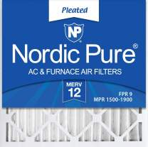 Nordic Pure 24x24x2 MERV 12 Pleated AC Furnace Air Filters 3 Pack, 3 PACK, 3 PACK