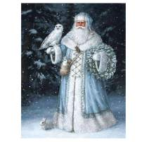 Santa Diamond Painting Christmas Gift - PigBoss 5D DIY Diamond Embroidery Santa Claus Cross Stitch Kits Art Gift for Adults (11.8 x 15.7 inches)