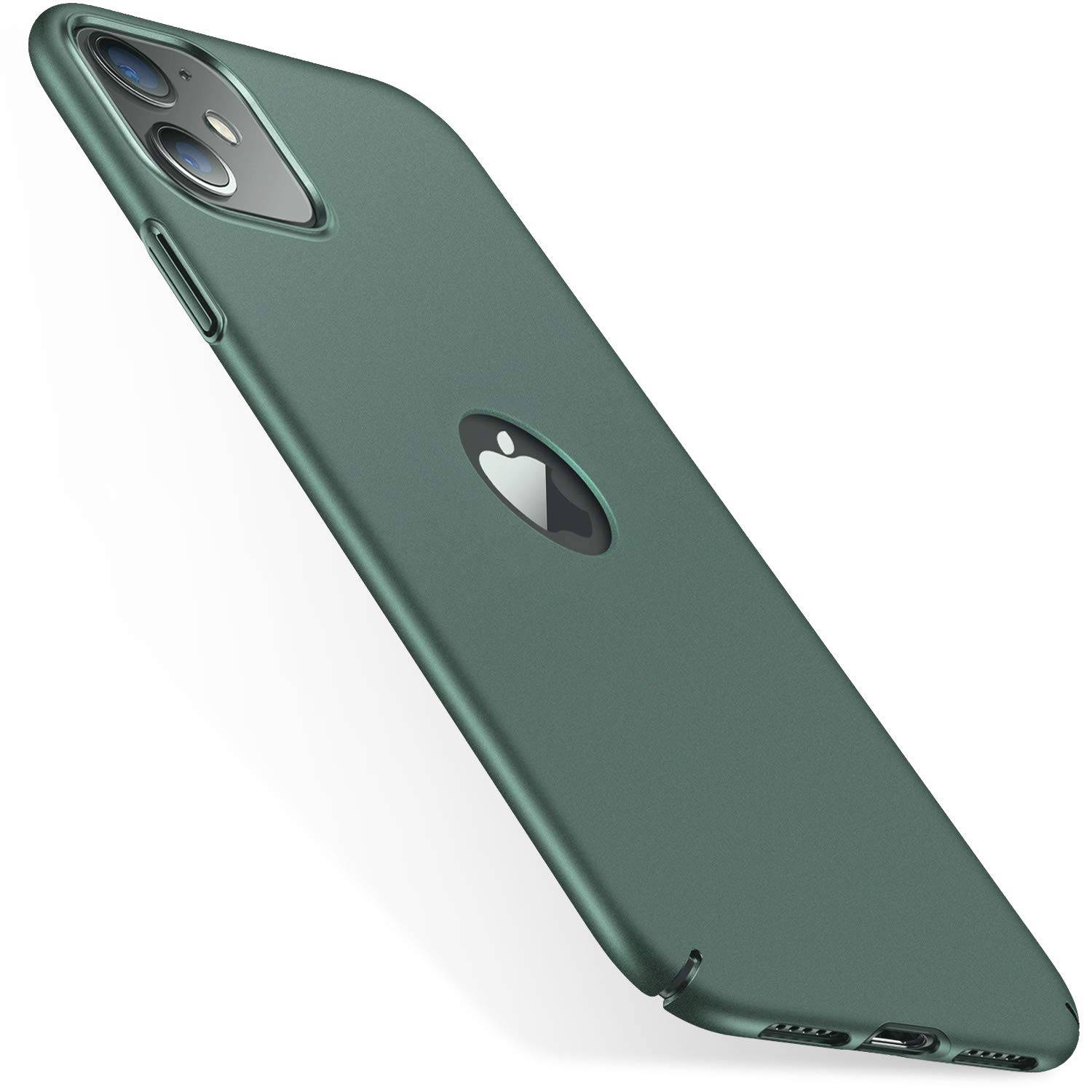 CASEKOO Slim Fit iPhone 11 Case, [Logo Visible] Ultra-Thin Hard Plastic Protective Phone Case Cover with Matte Finish Coating Cases for iPhone 11 6.1 inch 2019, Midnight Green