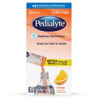 Pedialyte Electrolyte Powder, Orange, Electrolyte Hydration Drink, 0.6 oz Powder Packs, 6 Count